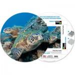 Pigment-and-Hue-RHONU-41224 Fertiges Rundpuzzle - Große Wasserschildkröte