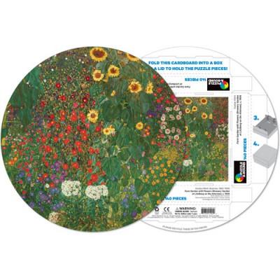 Pigment-and-Hue-RKLIMT-41202 Fertiges Rundpuzzle - Gustav Klimt: Blumengarten