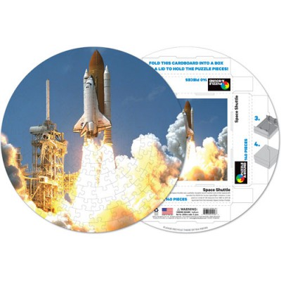 Pigment-and-Hue-RSTS-41216 Fertiges Rundpuzzle - Spaceshuttle