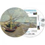 Pigment-and-Hue-RVAN-41206 Fertiges Rundpuzzle - Vincent Van Gogh: Fischerboote in Sainte-Marie de la Mer