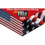 Pigment-and-Hue-XFLAG-01110 Beidseitiges Puzzle - Amerikanische Flagge