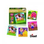 Diset-69958 4 Puzzles Natur - Bauernhof