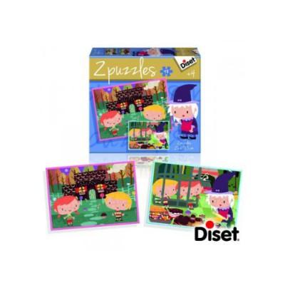 Diset-69963 2 Puzzles Märchen: Goldlöckchen