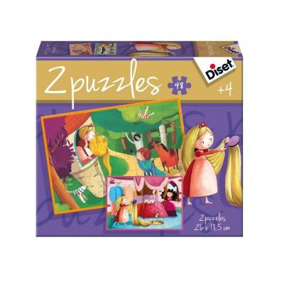 Jumbo-69969 2 Puzzles - Rapunzel