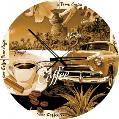 Art-Puzzle-4289 Puzzle-Uhr - Café