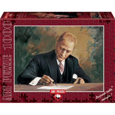 Puzzle Art-Puzzle-4404 Ghazi Mustafa Kemal Atatürk at Cankaya Mansion