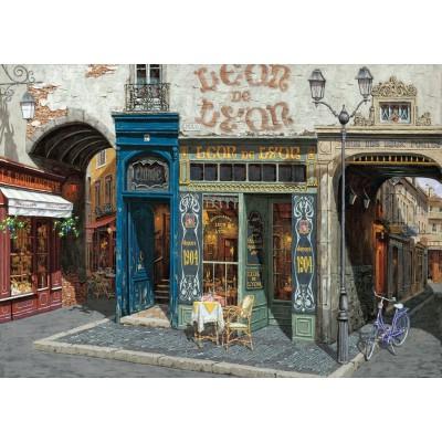 Art-Puzzle-4438 Holzpuzzle - Viktor Shvaiko: Cafe Leon