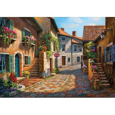 Puzzle Art-Puzzle-4709 Sung Kim: Rue de Village