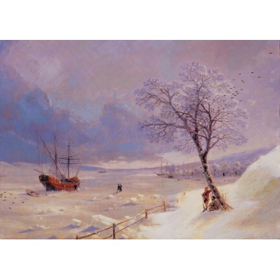 Puzzle Art-Puzzle-71024 The Frozen Bosphorus
