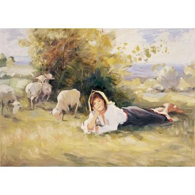 Puzzle Art-Puzzle-80523 Nicolae Grigorescu: Shepherdess