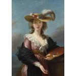 Puzzle   Elisabeth Vigée-Lebrun: Self-portrait in a Straw Hat, 1782