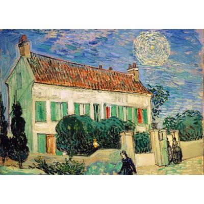 Puzzle Grafika-Kids-00058 Van Gogh Vincent: La Maison Blanche, la Nuit, 1890