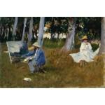 Puzzle  Grafika-Kids-00101 XXL Teile - Claude Monet by John Singer Sargent, 1885