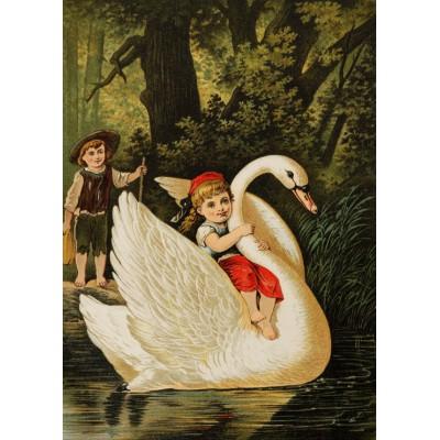 Puzzle Grafika-Kids-00114 Hansel und Gretel, illustration von Carl Offterdinger