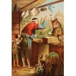 Puzzle  Grafika-Kids-00125 XXL Teile - Carl Offterdinger:Der Wolf und die sieben Geißlein