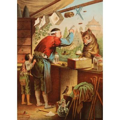 Puzzle Grafika-Kids-00126 Carl Offterdinger:Der Wolf und die sieben Geißlein