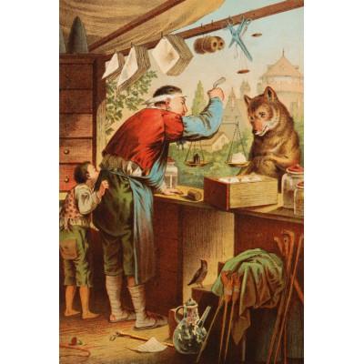Puzzle Grafika-Kids-00127 Carl Offterdinger:Der Wolf und die sieben Geißlein
