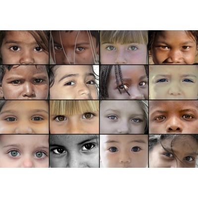Puzzle Grafika-Kids-00197 SOS MEDITERRANEE - Kinderaugen aus aller Welt