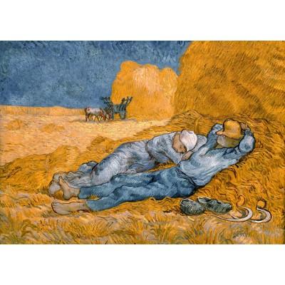 Puzzle Grafika-Kids-00198 Magnetische Teile - Van Gogh Vincent: La Sieste (d'après Millet), 1890