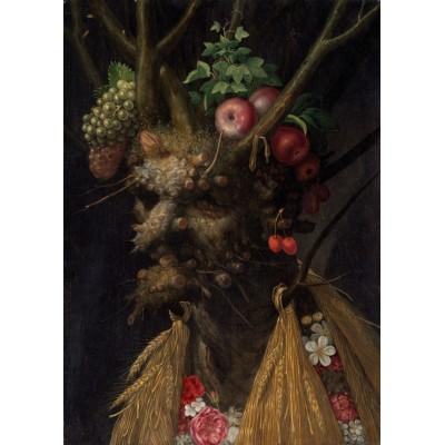 Puzzle Grafika-Kids-00214 Magnetische Teile - Arcimboldo Giuseppe: Four Seasons in One Head, 1590