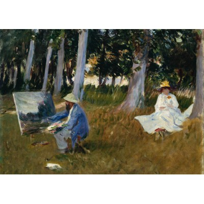 Puzzle Grafika-Kids-00233 Magnetische Teile - Claude Monet by John Singer Sargent, 1885