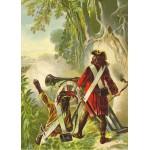 Puzzle  Grafika-Kids-00247 Magnetische Teile - Robinson Crusoe von Offterdinger & Zweigle