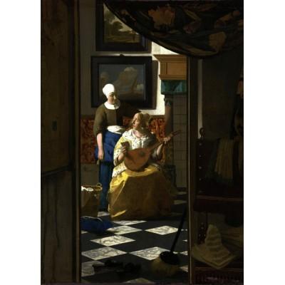 Puzzle Grafika-Kids-00251 Magnetische Teile - Johannes Vermeer: Der Liebesbrief, 1669-1670