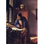 Puzzle  Grafika-Kids-00253 Magnetische Teile - Vermeer Johannes: Der Geograph, 1668-1669