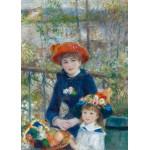 Puzzle  Grafika-Kids-00254 Magnetische Teile - Auguste Renoir: Zwei Schwestern auf der Terrasse, 1881