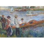 Puzzle  Grafika-Kids-00259 Magnetische Teile - Renoir Auguste: Canoteurs à Chatou, 1879
