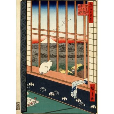 Puzzle Grafika-Kids-00267 Magnetische Teile - Hiroshige Utagawa: Asakusas Reisfelder und Torinomachi-Fest, 1857