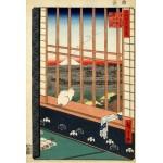 Puzzle  Grafika-Kids-00268 Hiroshige Utagawa: Asakusas Reisfelder und Torinomachi-Fest, 1857