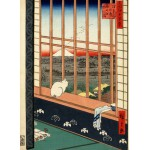 Puzzle  Grafika-Kids-00269 Hiroshige Utagawa: Asakusas Reisfelder und Torinomachi-Fest, 1857