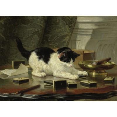 Puzzle Grafika-Kids-00284 Henriette Ronner-Knip: Spielende Katze