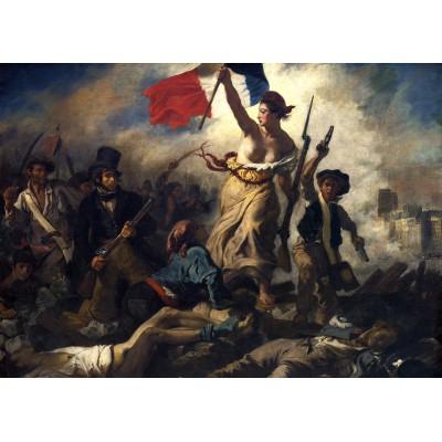 Puzzle Grafika-Kids-00287 Magnetische Teile - Eugène Delacroix: Die Freiheit führt das Volk, 1830