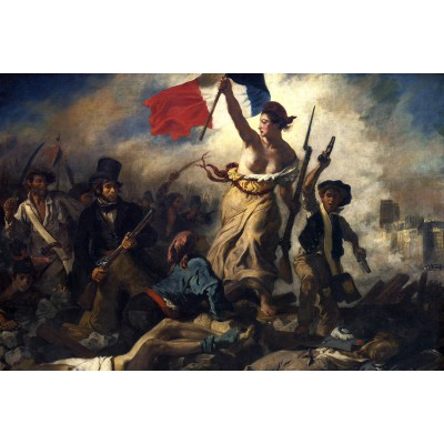 Puzzle Grafika-Kids-00288 Eugène Delacroix: Die Freiheit führt das Volk, 1830