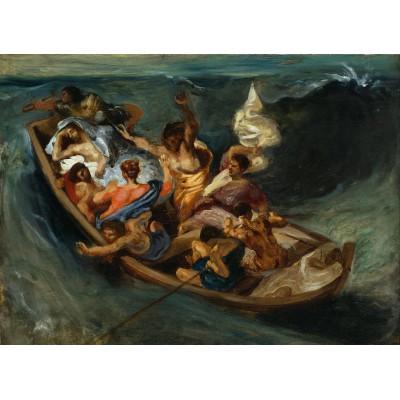 Puzzle Grafika-Kids-00290 Eugène Delacroix: Christus im Sturm auf dem Meer, 1841