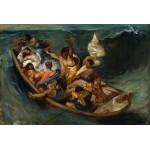Puzzle  Grafika-Kids-00291 Eugène Delacroix: Christus im Sturm auf dem Meer, 1841