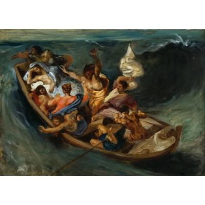 Puzzle Grafika-Kids-00292 Magnetische Teile - Eugène Delacroix: Christus im Sturm auf dem Meer, 1841