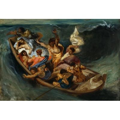 Puzzle Grafika-Kids-00294 XXL Teile - Eugène Delacroix: Christus im Sturm auf dem Meer, 1841