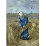 Puzzle  Grafika-Kids-00300 Magnetische Teile - Vincent van Gogh: Bäuerin beim Strohschneiden (nach Millet)