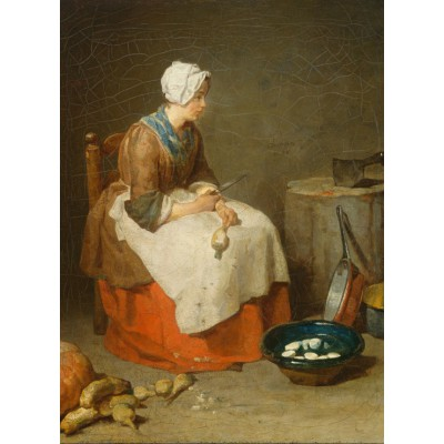 Puzzle Grafika-Kids-00308 Jean Siméon Chardin - Die Rübenputzerin, 1738