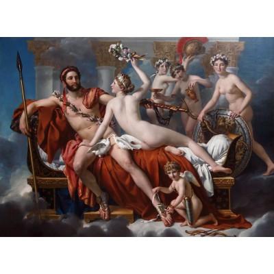 Puzzle Grafika-Kids-00369 Jacques-Louis David: Mars entwaffnet durch Venus und die Grazien, 1824