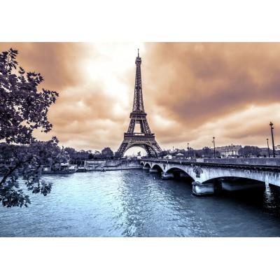 Puzzle Grafika-Kids-00380 Der Eiffelturm an einem regnerischen Wintertag