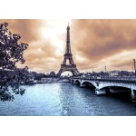 Puzzle  Grafika-Kids-00381 Der Eiffelturm an einem regnerischen Wintertag