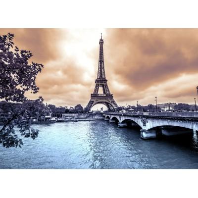 Puzzle Grafika-Kids-00382 Magnetische Teile - Der Eiffelturm an einem regnerischen Wintertag