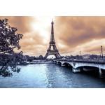 Puzzle  Grafika-Kids-00383 XXL Teile - Der Eiffelturm an einem regnerischen Wintertag