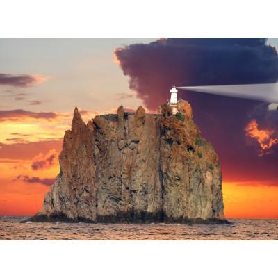 Puzzle Grafika-Kids-00409 Stromboli Lighthouse, Italy