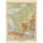 Puzzle  Grafika-Kids-00414 Frankreich physisch - Larousse, 1925