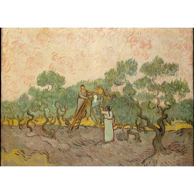 Puzzle Grafika-Kids-00446 Magnetische Teile - Van Gogh: Women Picking Olives,1889